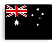 Australin Flag CARD/POSTER Black  Canvas Print