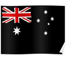 Australin Flag CARD/POSTER Black  Poster