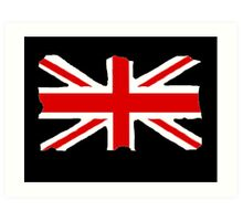 Union Jack on Black Art Print