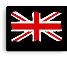 Union Jack on Black Canvas Print