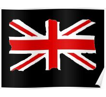 Union Jack on Black Poster