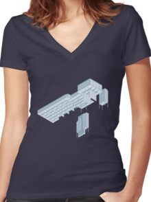 Isometric Council Chambers Women's Fitted V-Neck T-Shirt