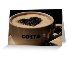 Love Coffee. Greeting Card