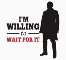 I'm Willing to Wait For It - Aaron Burr in Hamilton Musical (black version) Kids Clothes