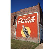 Route 66 - Coca Cola Ghost Mural Photographic Print