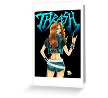 Thrash Metal Chick  Greeting Card