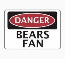 DANGER BEARS FAN FAKE FUNNY SAFETY SIGN SIGNAGE Kids Clothes