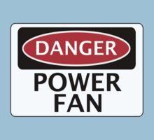 DANGER POWER FAN FAKE FUNNY SAFETY SIGN SIGNAGE Kids Clothes