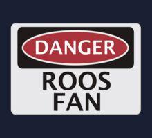 DANGER ROOS FAN FAKE FUNNY SAFETY SIGN SIGNAGE Kids Clothes