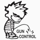 Pee on Gun Control by panzerfreeman