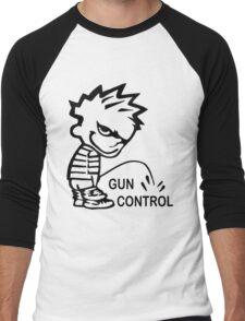 Pee on Gun Control Men's Baseball ¾ T-Shirt