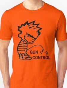 Pee on Gun Control Unisex T-Shirt