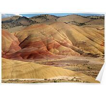 Painted Hills by Evening Light Poster