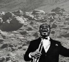Louis Armstrong On the Moon Sticker