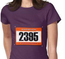Marathon Runner Womens Fitted T-Shirt