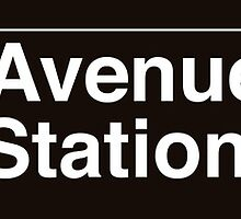 NYC Elmhurst Avenue - 90 Street Station - 7 by axemangraphics