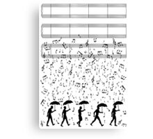 Singing in the Raaaain Canvas Print