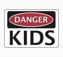 DANGER KIDS FAKE FUNNY SAFETY SIGN SIGNAGE One Piece - Short Sleeve