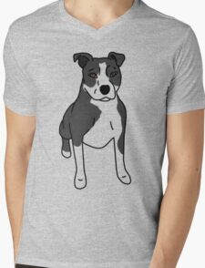 Pit Bull - with markings Mens V-Neck T-Shirt