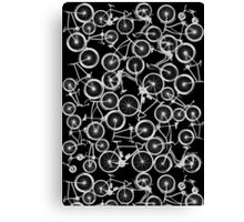 Pile of Grey Bicycles Canvas Print