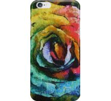 Rainbow Rose painting iPhone Case/Skin