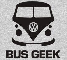VW Camper Bus Geek Black Kids Tee