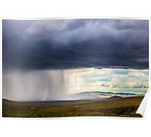 Mongolian Steppe Storm Poster
