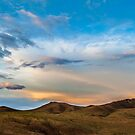 Mongolian Mountain Sunset by Ruben D. Mascaro