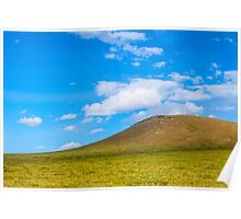Mongolia's Real Life Windows 95 desktop mountain Poster