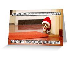 Cute cat Greeting Card