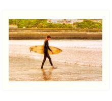 Moment In The Sun - Newquay Surfer Art Print