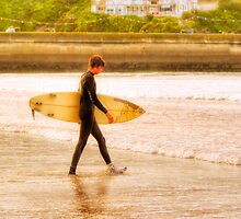 Moment In The Sun - Newquay Surfer by Mark Tisdale