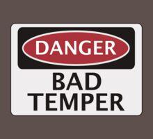 DANGER BAD TEMPER, FAKE FUNNY SAFETY SIGN SIGNAGE Kids Clothes