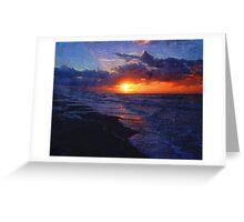 Sunrise Over The Atlantic Ocean Greeting Card