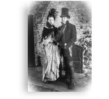 Victorian Couple Metal Print