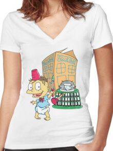 Tommy Who Women's Fitted V-Neck T-Shirt