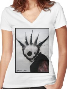 Punk Macabre Women's Fitted V-Neck T-Shirt