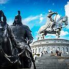 Chinggis Khan and his body guard by Ruben D. Mascaro