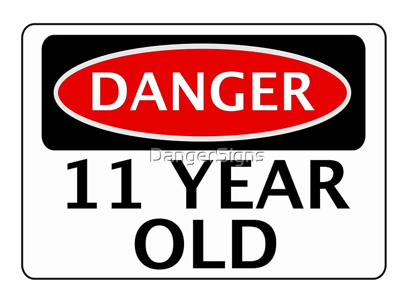 Quot Danger 11 Year Old Fake Funny Birthday Safety Sign