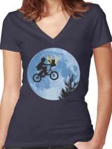 Electric Ride Women's Fitted V-Neck T-Shirt