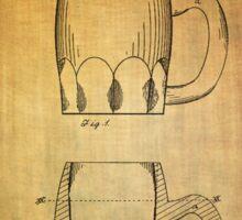 Beer Mug Patent From 1872 Sticker