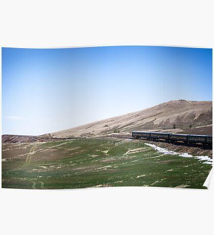 Winding through Mongolia Poster