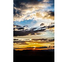Steppe Sunset Photographic Print