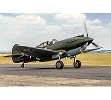 Curtiss P-40B 41-13297 G-CDWH Taxying Photographic Print