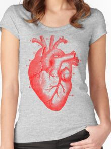 Oversized Anatomical Heart T-Shirt Women's Fitted Scoop T-Shirt