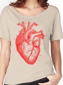 Oversized Anatomical Heart T-Shirt Women's Relaxed Fit T-Shirt
