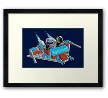 Daft Invaders Framed Print