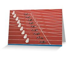 Starting Blocks Greeting Card