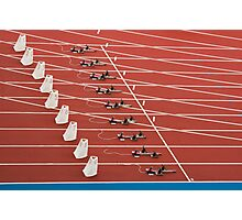 Starting Blocks Photographic Print