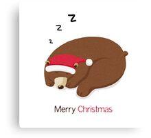 Merry Christmas, Bear Canvas Print